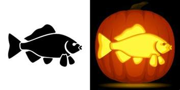 free fish pumpkin stencil