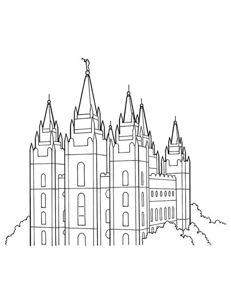 Pin Temple Coloring Page Lds Lesson Ideas Pictures On Lds Temple Coloring Pages