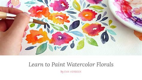 learn to paint in learn to paint watercolor florals verbeek skillshare