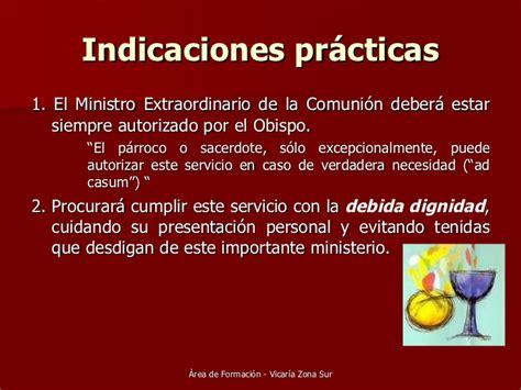 guia para los ministros extraordinarios de la sagrada requisitos ministros