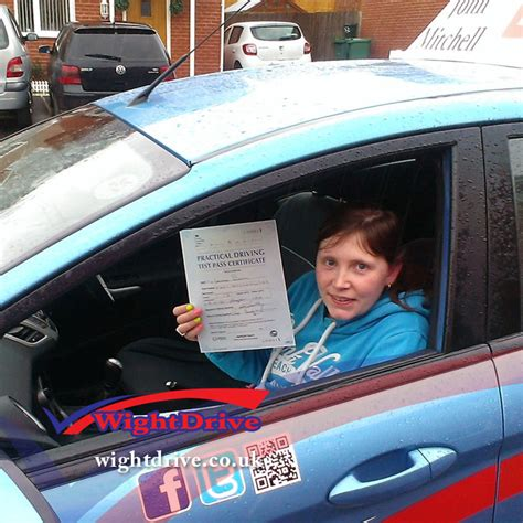 sle of driving test leona gaskn driving test pass isle of wight driving