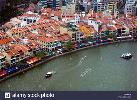 boat quay old photos chinese shophouses on boat quay singapore stock photo