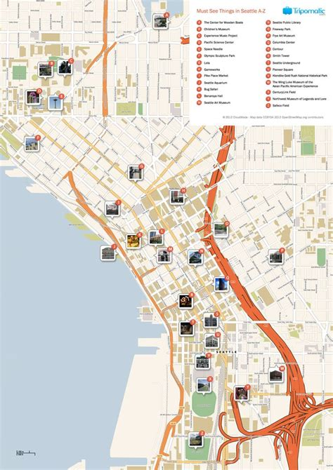 seattle map pdf 25 best ideas about seattle area on seattle