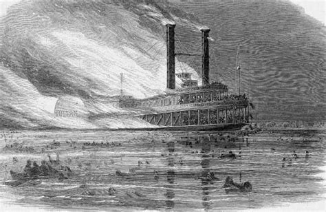 steamboat explosion the civil war of the united states the explosion of the