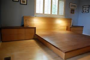 platform bed bunchberry woodworking