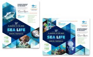 design poster template aquarium poster template design