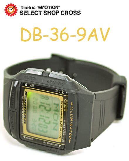 Casio Db 36 9av 楽天市場 カシオ casio data bank データバンク 腕時計 海外モデル db 36 9av ブラック