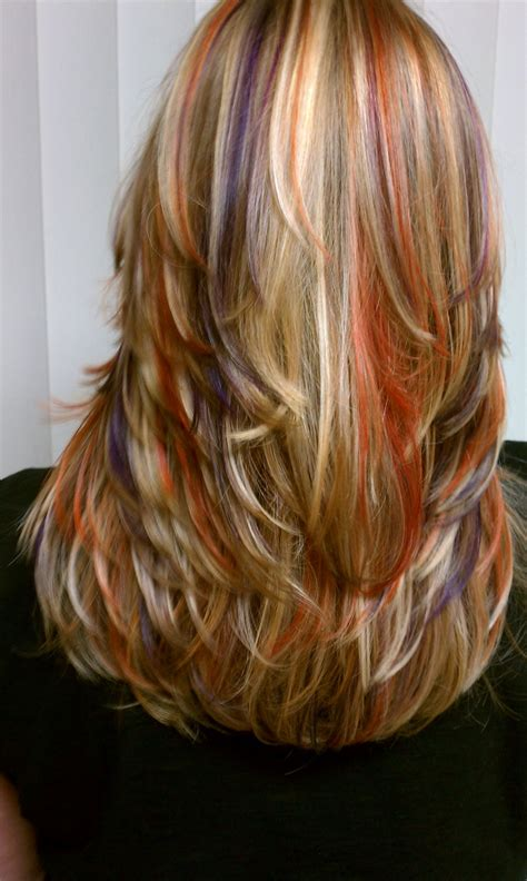 hairstyles with orange highlights 323 best images about hair styles color on pinterest