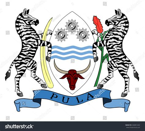 Seal Arm Dalam Nouvo Sporty Z republic botswana coat arms seal national stock vector 340851602