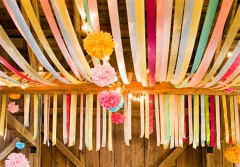 Crepe Paper Decorations by Ceiling Streamers The Celebration Society
