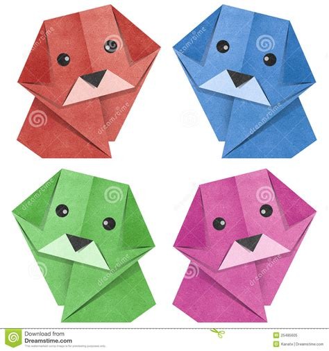Origami Papercraft - origami recycled papercraft royalty free stock photo
