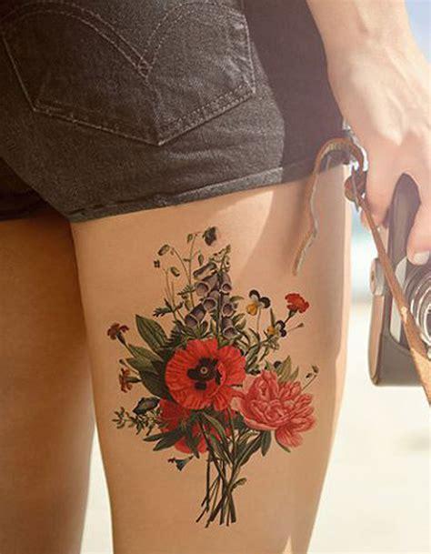 tatouage cuisse fleur 15 tatouages sur la cuisse qui
