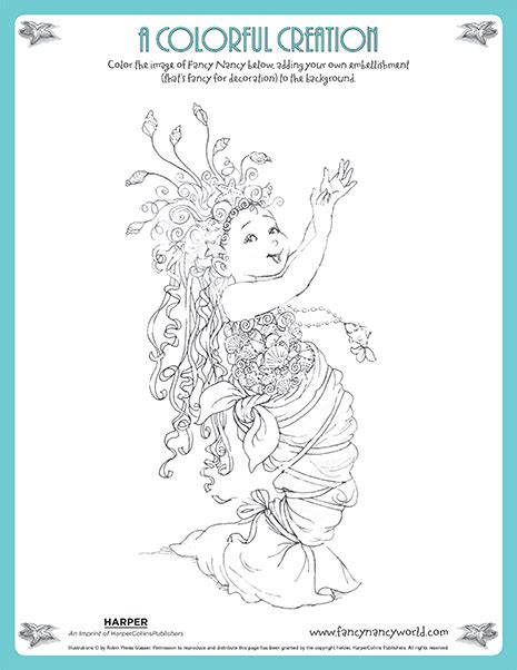 card mermaid coloring templates fancy nancy printable activities fancynancyworld