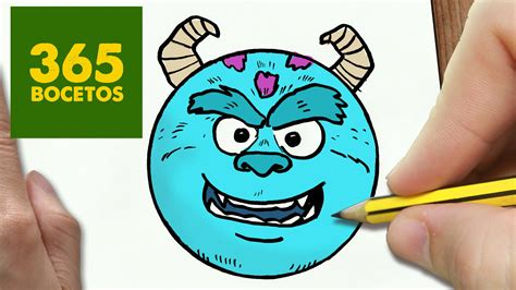 imagenes de monster inc kawaii como dibujar sulley emoticonos whatsapp kawaii paso a paso