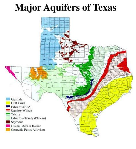 aquifers in texas map major aquifers of texas