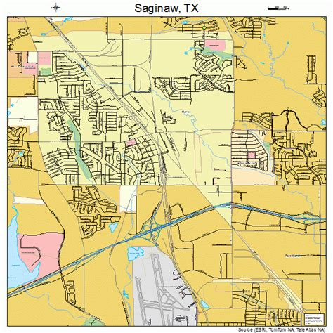 map of saginaw texas saginaw texas map 4864112