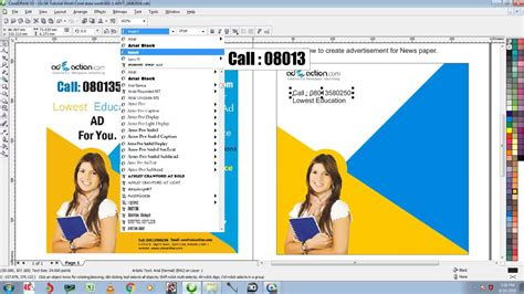 newspaper layout in coreldraw how to create newspaper ad design in coreldraw youtube