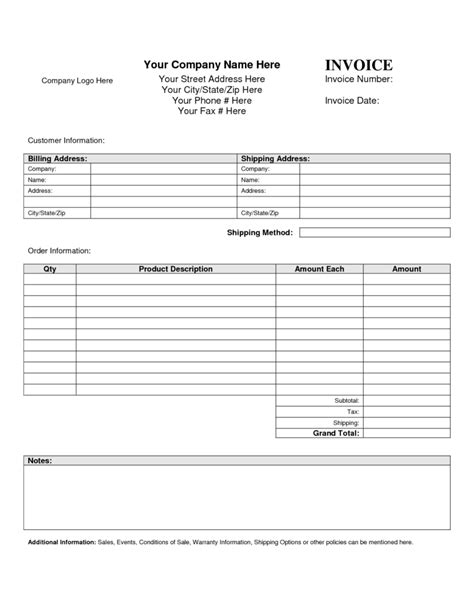invoice spreadsheet template rent bill template and invoice template blank printable