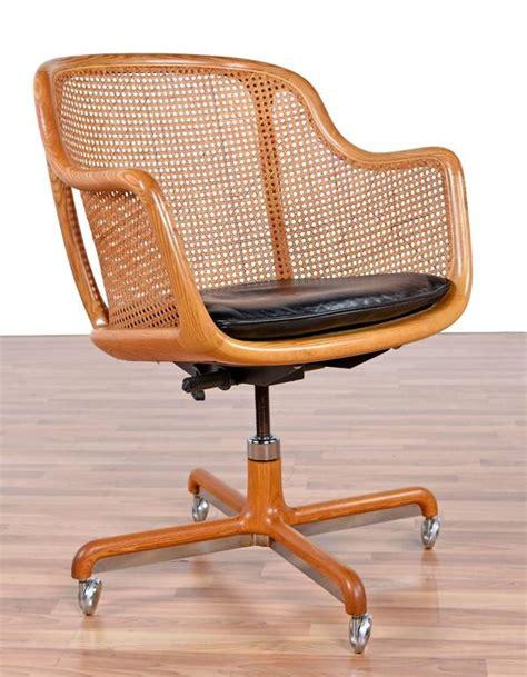 mid century modern cane swivel desk chair  ward bennett  stdibs