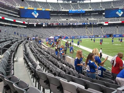 cool seats to sit in pregame metlife stadium section 106