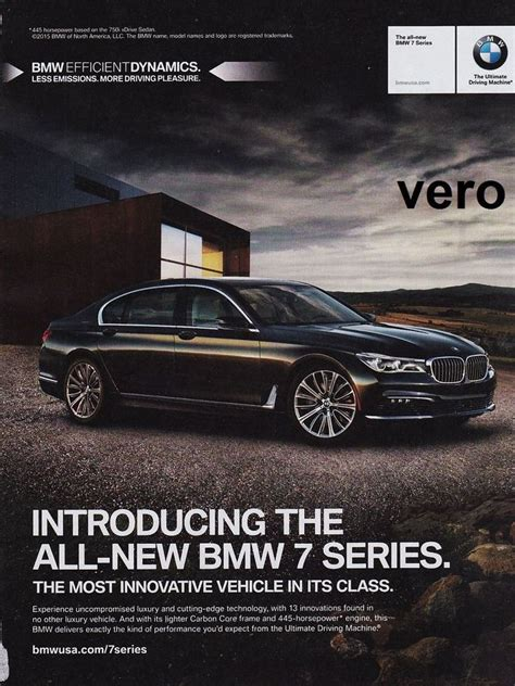 2015 Magazine Ad Bmw 7 Series Print Art Clipping