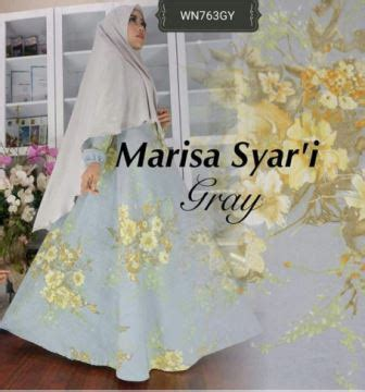 Marissa Syar I gamis busui bahan serat jagung wa 0821 1223 5665