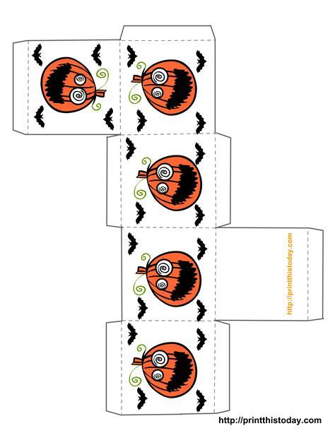 Miniature Halloween Printables Free Printable Halloween Treat Boxes Templates Print This Treat Box Template