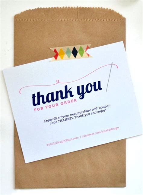 norwex business card template thank you for your order printable instant