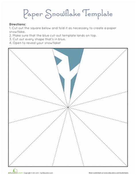 paper snowflake templates paper snowflake template worksheet education