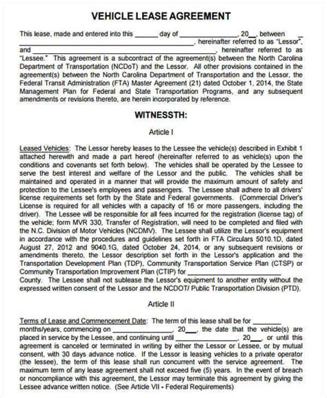 37 Lease Agreements In Pdf Sle Templates Employee Lease Agreement Template