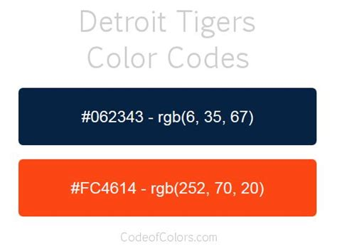 detroit tigers colors detroit tigers team color codes mlb team colors