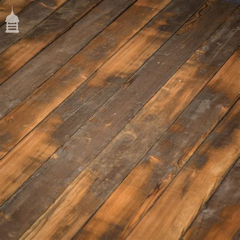 38 square metres of skimmed pine floor boards wall cladding cut from reclaimed joists