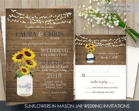 Sunflower Wedding Invitations by Sunflower Wedding Invitations Rustic Wedding By Notedoccasions