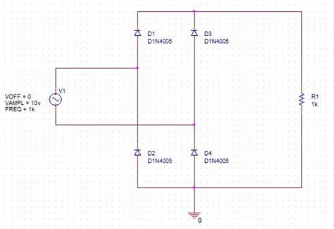 diode bridge in pspice pspice 브리지 정류기 bridge rectifier 네이버 블로그
