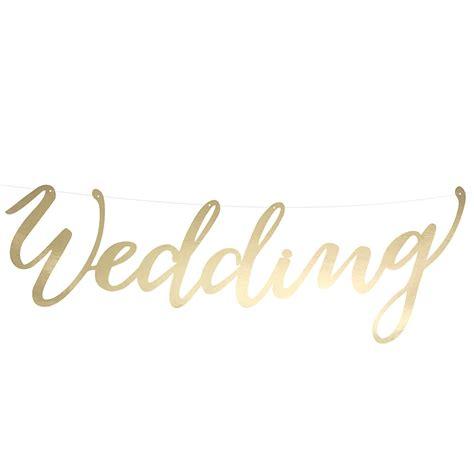 Girlande Hochzeit by Girlande Wedding Gold 45 Cm Weddix De