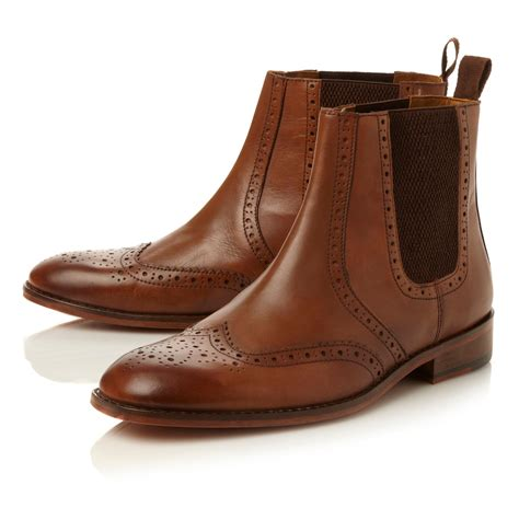 Brogue Chelsea Boots roland cartier montagu brogue chelsea boot in brown for