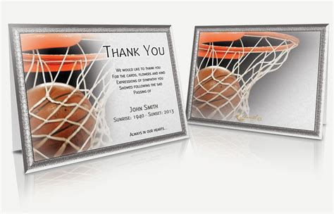 printable thank you cards basketball search results for thank you card templates free