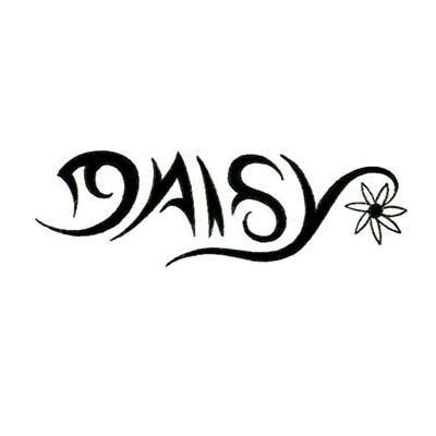 tribal daisy tattoo name gallery