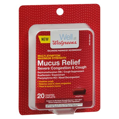 walgreens mucus relief severe congestion cough caps