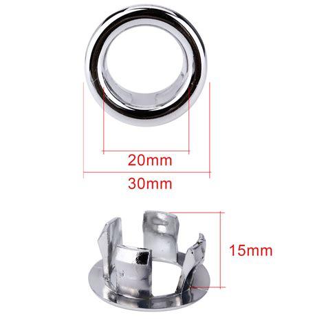 kitchen sink trim ring 5 pcs bathroom basin sink overflow ring chrome cover trim