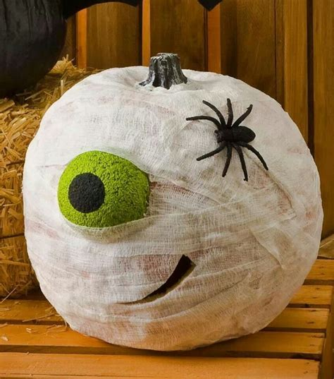 mummy pumpkin halloween pinterest