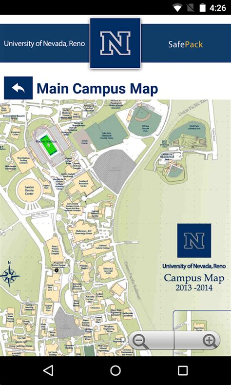 site map university of nevada reno safepack android apps on google play