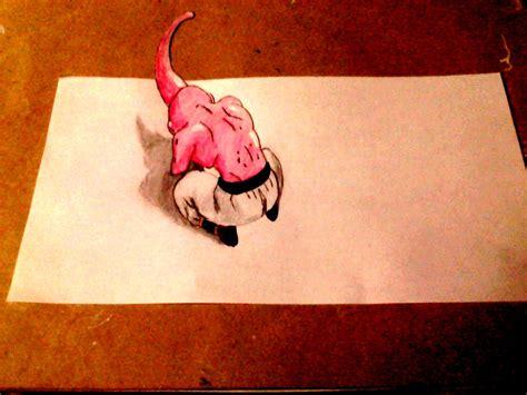 imagenes para dibujar en 3d como dibujar a majin buu 3d dibujemos tv youtube