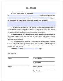 Acknowledgement Letter For Warranty Bill Of Sale Form Free Fillable Pdf Forms