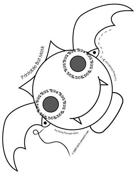 printable animal masks to color cute printable halloween animal paper masks bat mask