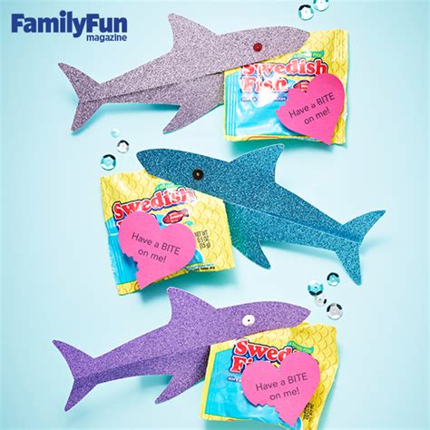 valentines day fish easy shark valentines card for