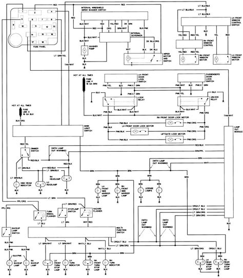 1987 ford bronco ii fuse panel diagram wiring diagrams