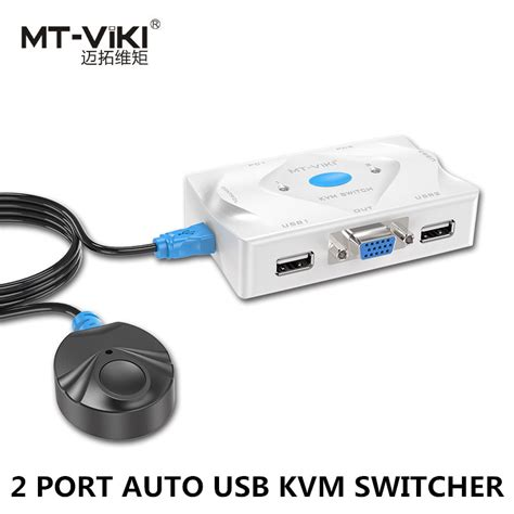 Vga Switch 2 Port Remot mt viki 2 port kvm switch vga usb hotkey wired remote controller select auto scan with cable