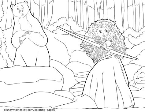 disney brave coloring pages cooloring