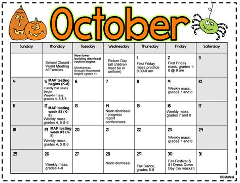 october 2015 calendar st helena incarnation school